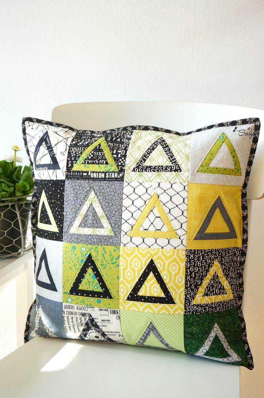 Love this pillow Saija (@saija_elina) made using my Sugar Loaf Block pattern.