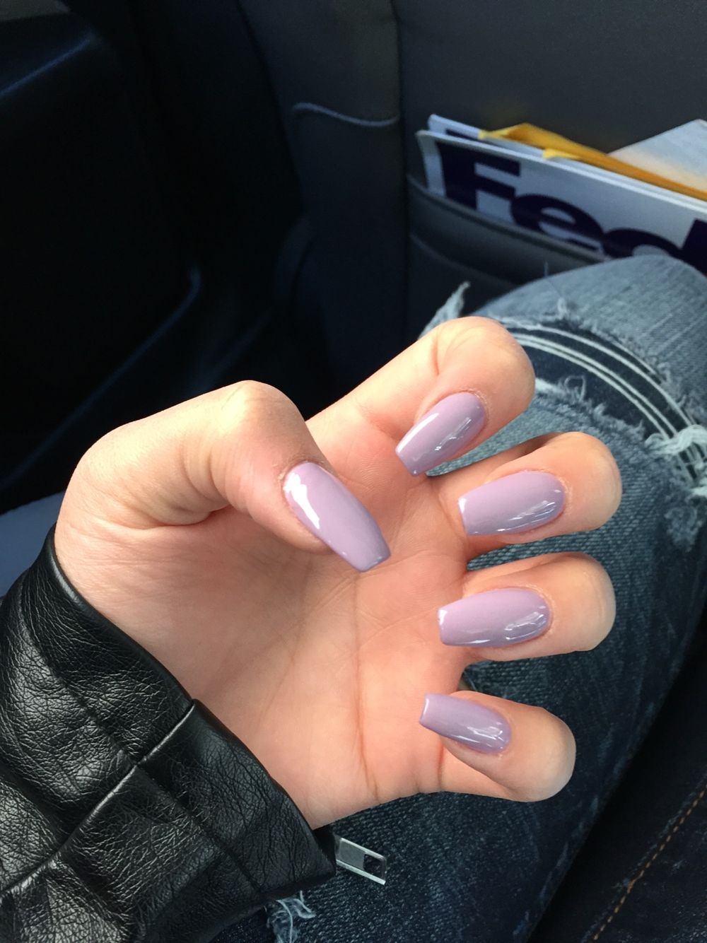 Lavender Coffin Nails Lavender Nails Nails Short Coffin Nails