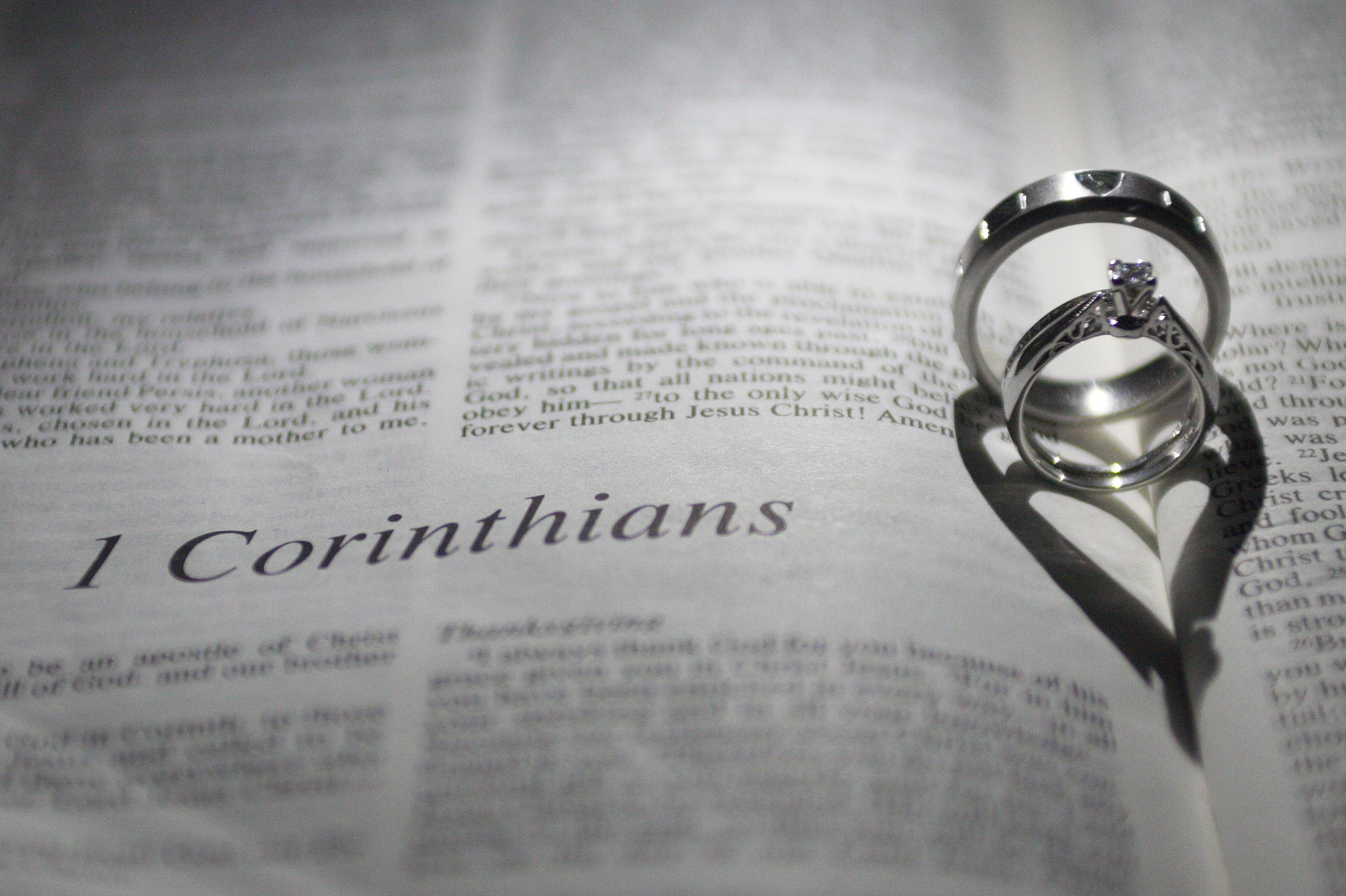 The book of 1 Corinthians chapter 13 in the Bible the chapter on