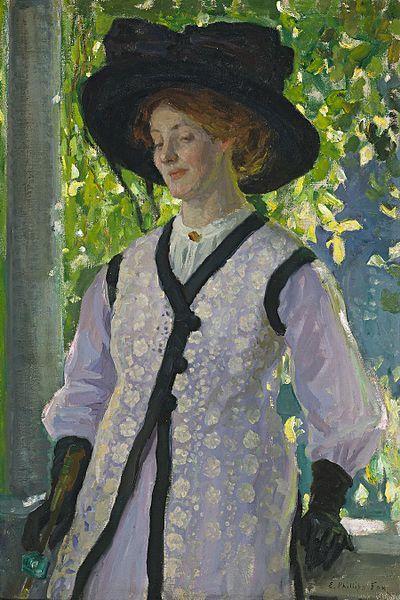 On the Balcony, 1912, by Emanuel Phillips Fox (Australian, 1865-1915)