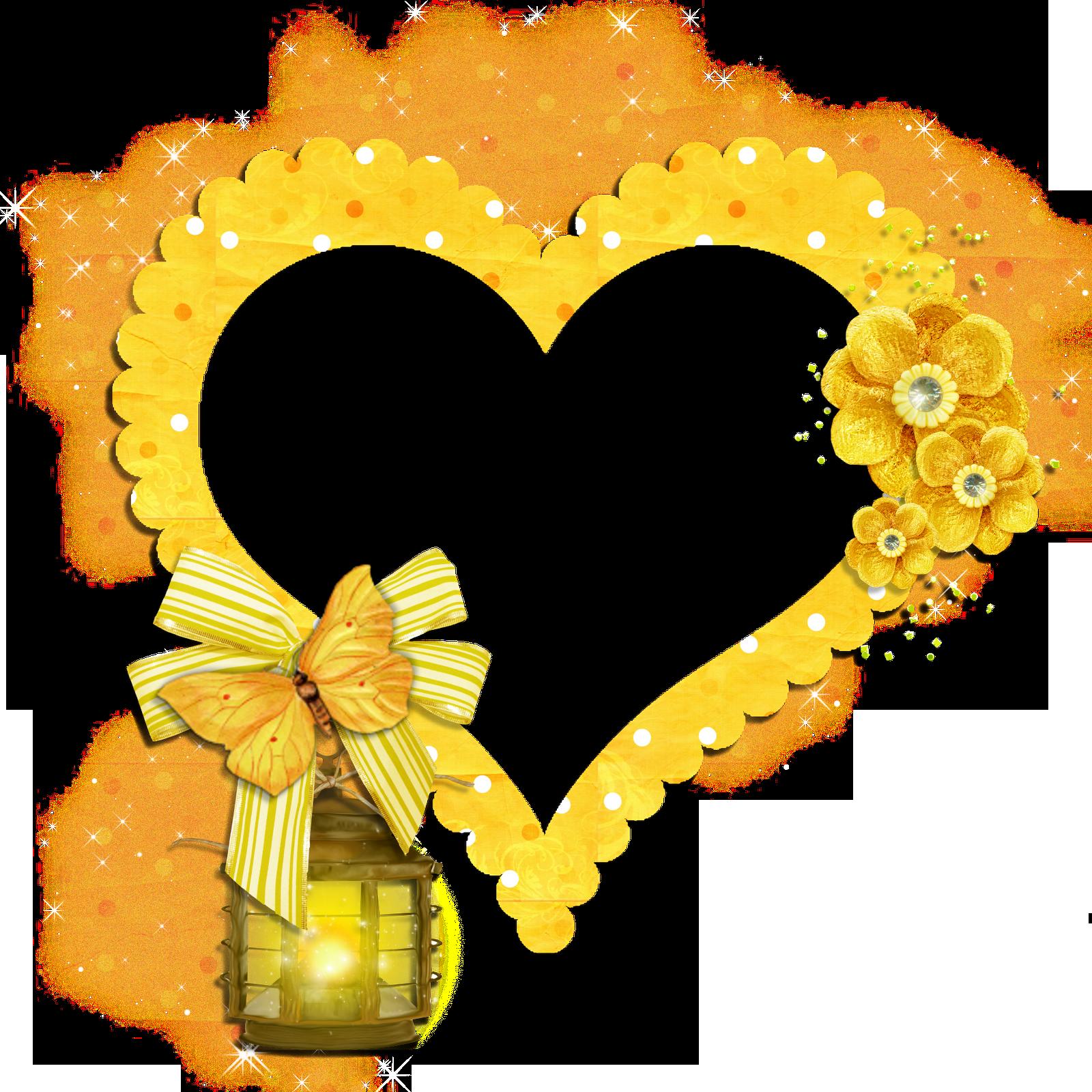 Frame Heart Images Image Symbols Yellow Heart