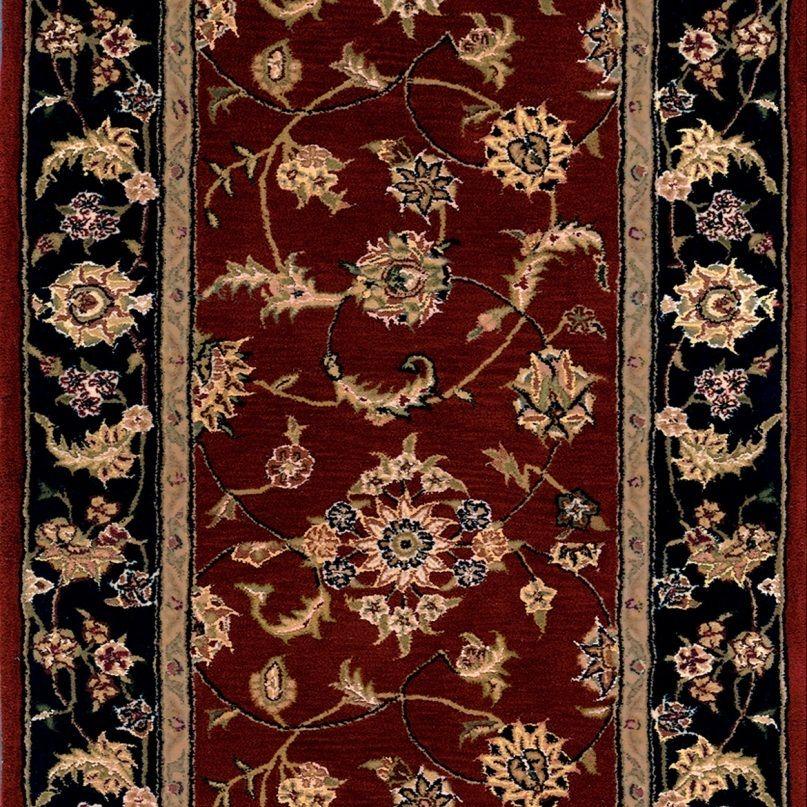 Best Nourison 2000 2 Burgundy Navy 30 Inch Runner Carpet 400 x 300