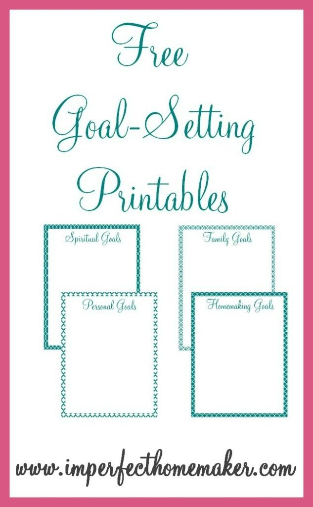 Free GoalSetting Printables Party invitations Goal and Board