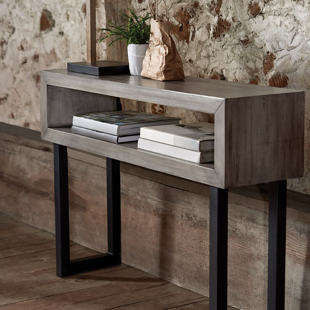 Wood And Metal Aiden Console Table: Wood And Metal Console Table