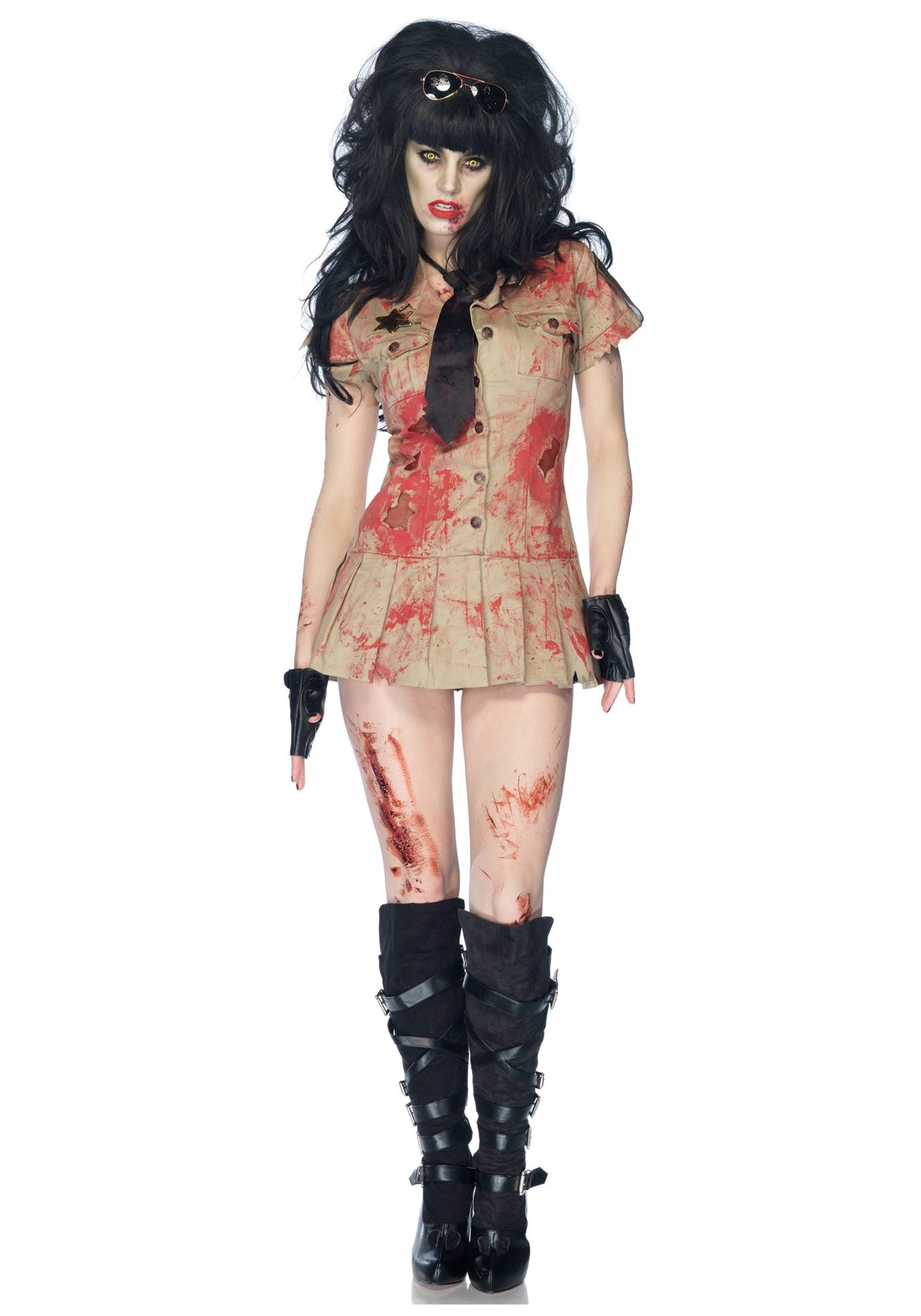 scary halloween costumes for women home scary costume ideas zombie costumes womens deputy zombie costumes - Scary Halloween Costumes Women