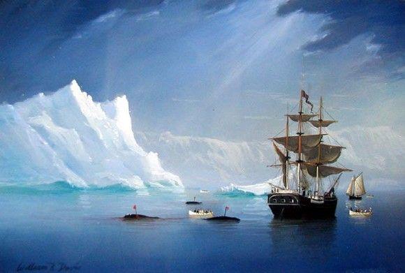 William R. Davis - Whalers in the Artic