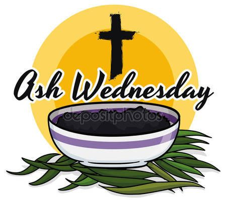 promotional poster for ash wednesday with palms cross and bowl rh pinterest com ash wednesday clip art images ash wednesday 2017 images clip art