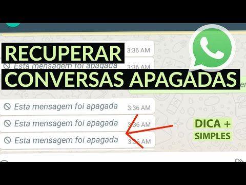 Ler Mensagens Apagadas Do Whatsapp Youtube Em 2020 Ler
