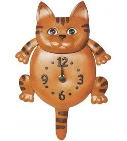 Cat Japanese Leather Wall Clock #26261