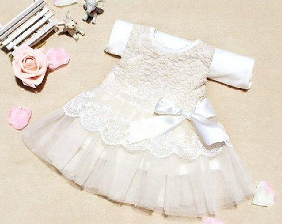 133efdc5d White summer winter lace tutu skirt dress Birthday flower girl ...