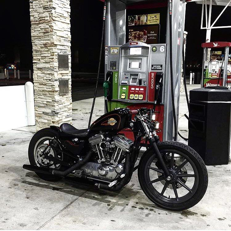 Harley-Davidson XL Sportster rigid | early Sportster fuel tank | dropped front suspension