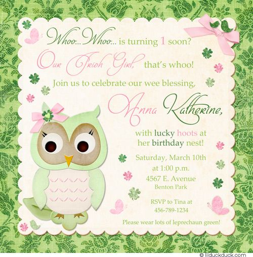 Butterfly Owl Birthday Invitation - Pastel Whoo Party Fresh Owl - fresh birthday party invitation designs