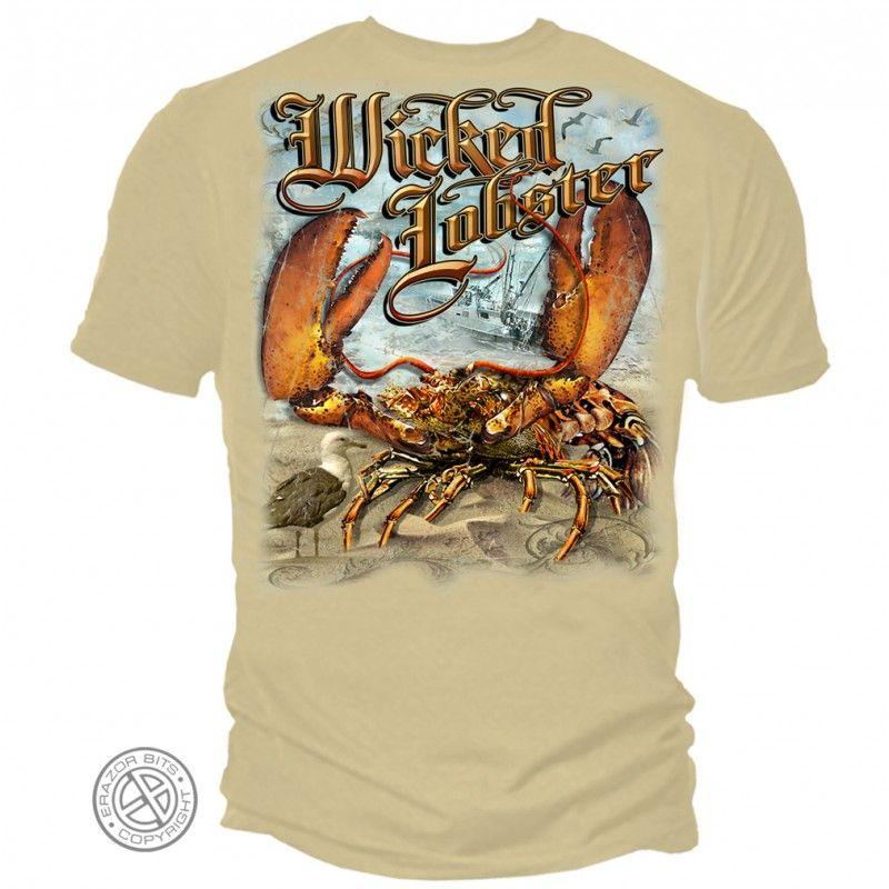 Mens Lobster Fishing Tee Shirt