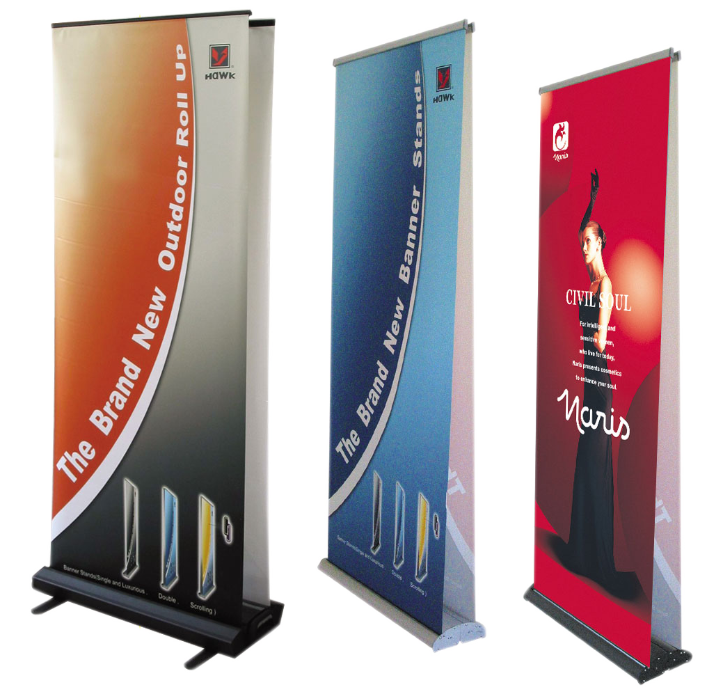 Roll Up Banners Banner Stands