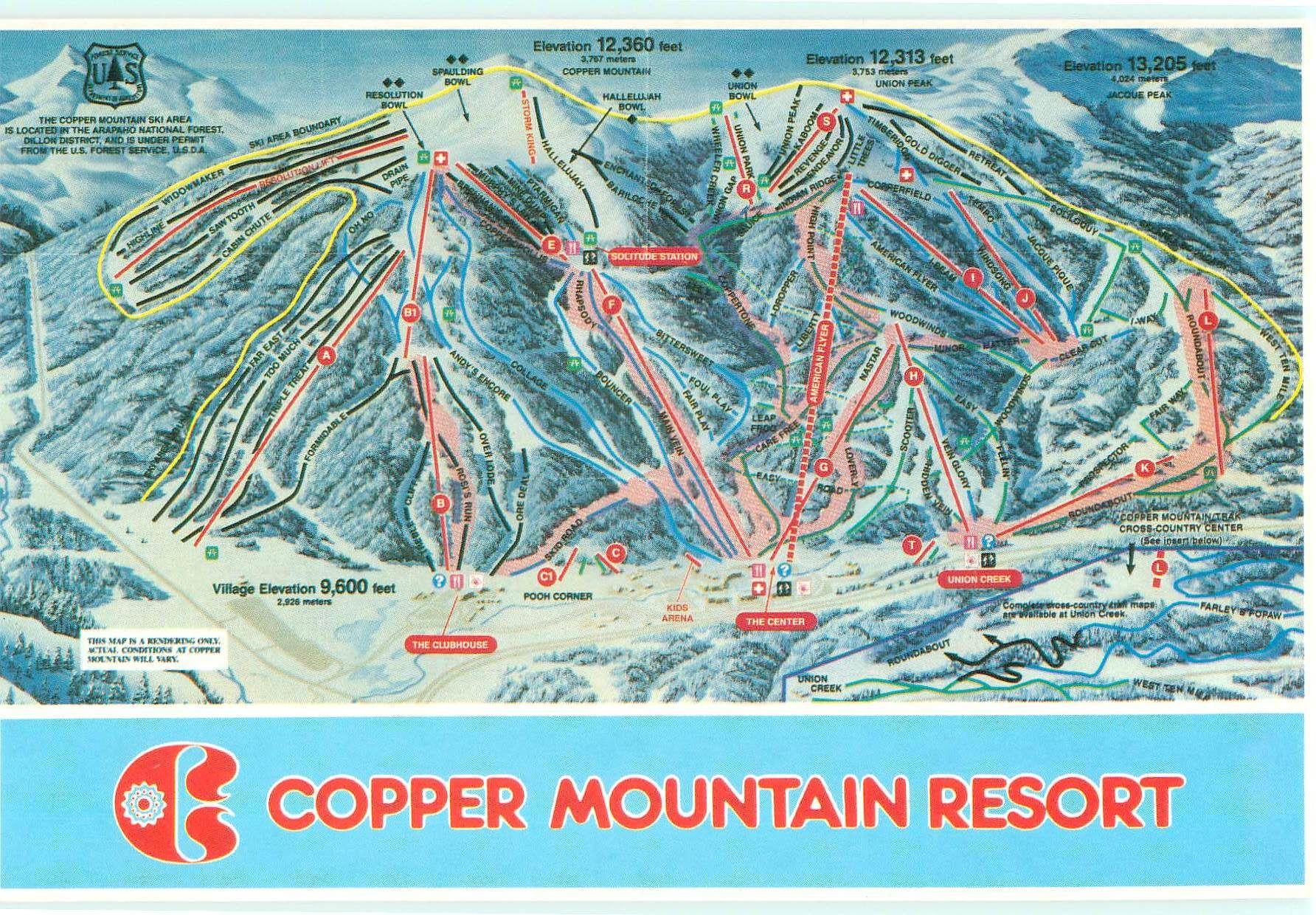 Copper Mountain Resort Trail Map Copper Mountain Copper Mountain Ski Copper Mountain Resort