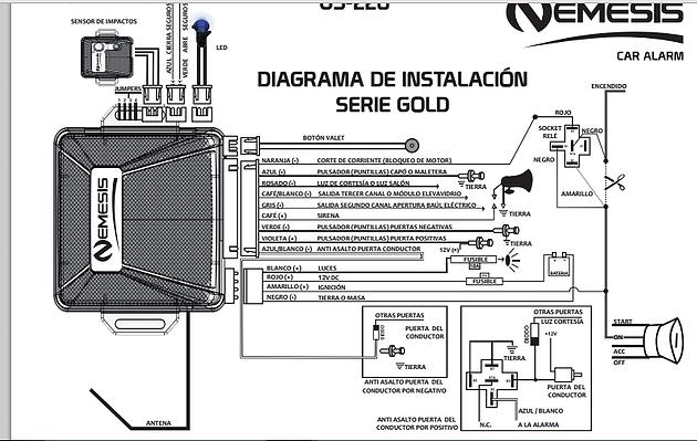 Diagrama Instalacion Alarma Nemesis Cursos Cali Cefcae