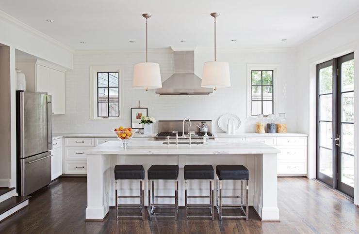 Ashley Goforth Design Kitchens Drum Pendants Light