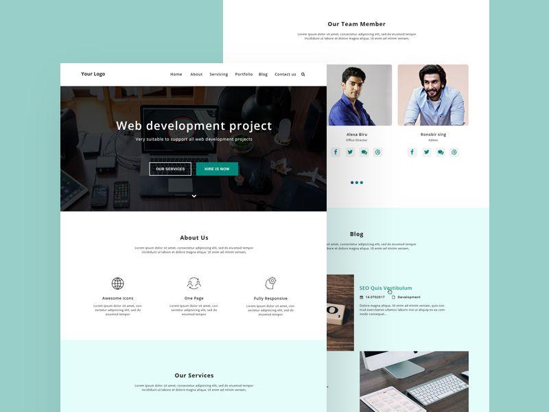 Web Development Homepage Web Design Template Free Resource Web Design Templates Free Web Template Design Psd Web Design