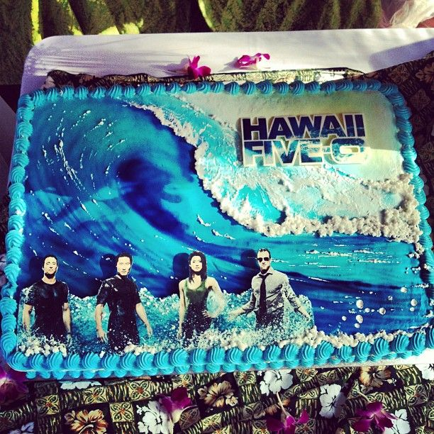 Hawaii Five 0 Cake Im Having For My Birthday Hawaiian Theme