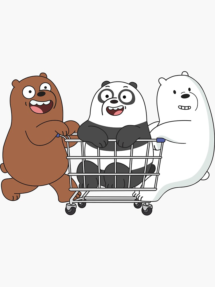 We Bare Bears Sticker By Plushism In 2021 Ice Bear We Bare Bears We Bare Bears Wallpapers Bear Wallpaper