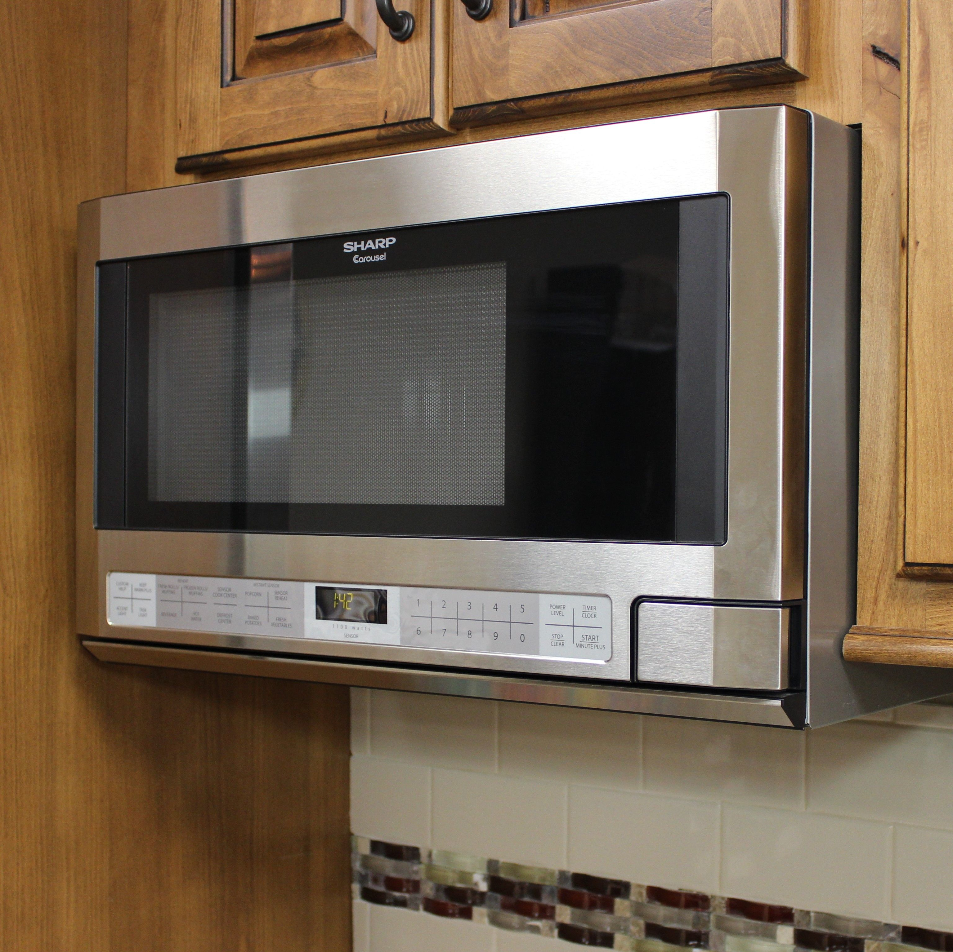 This Sharp Over The Counter Model #microwave Allows For A Built In