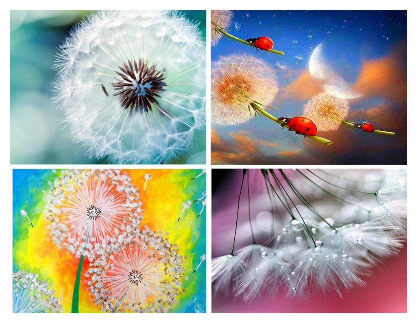 Dandelion Full Diamond DIY 5D Diamond Painting Flower Cross Stitch Kit Decor