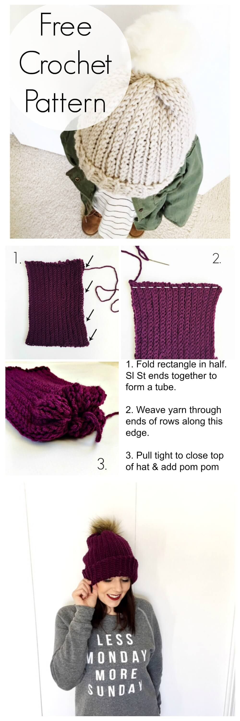 A Free Crochet Ribbed Hat Pattern + 4 Tips To Make This Stitch ...