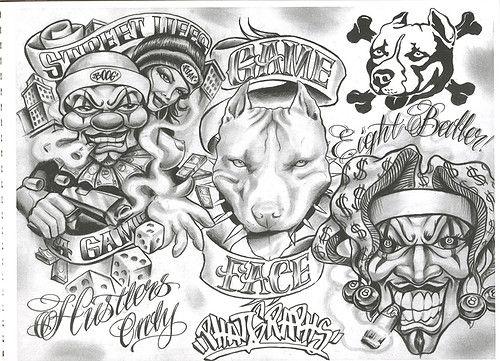 Chicano Tattoo Designs Tattoovoorbeeld Chicano Style Tattoo