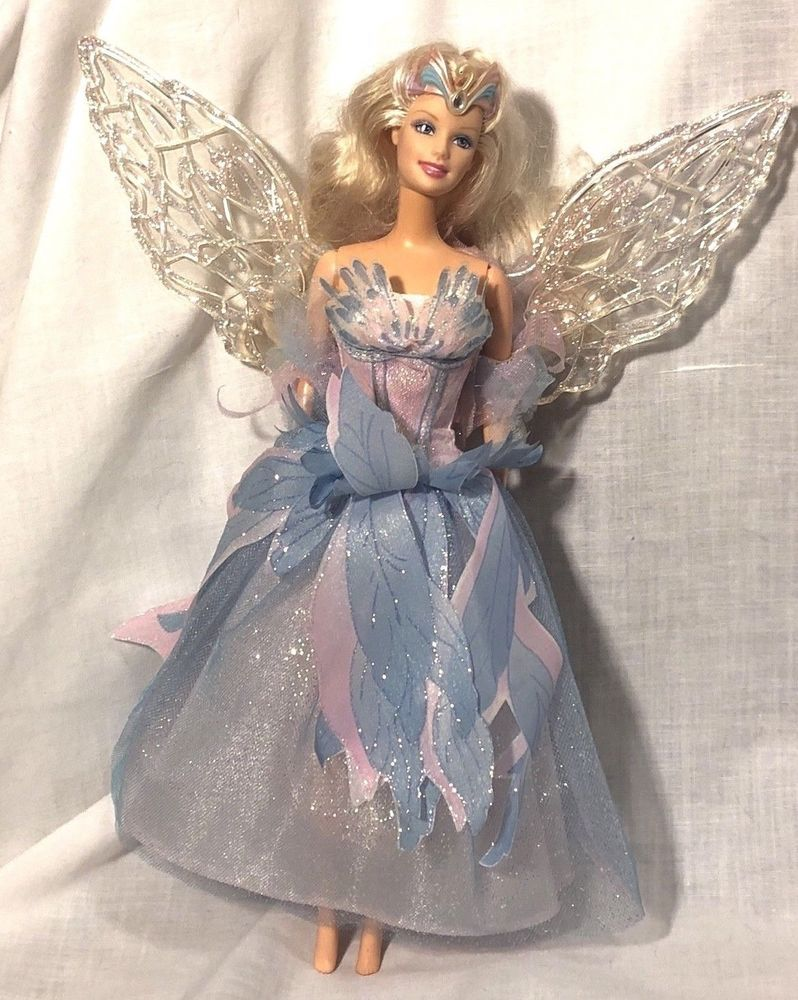 28412b5cbf53 Barbie The Swan Lake Princess Odette Blonde Doll Blue Dress Light Up Wings  #Mattel #DollswithClothingAccessories