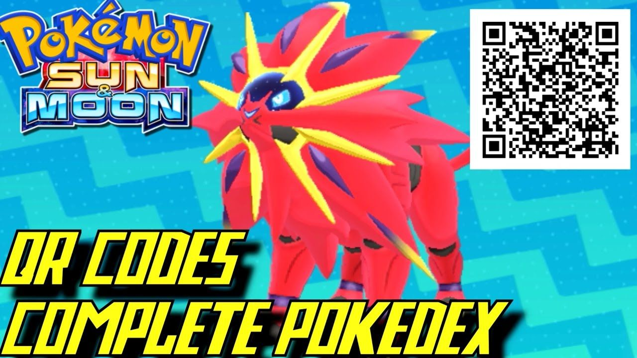 Pokemon Sun And Moon Complete Pokedex All Qr Codes Shinies