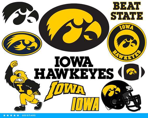 Iowa Hawkeyes Svg And Clipart Files Hawkeyes Fan Pack Included File Formats 11x Svg 11x Pdf 11x Png 11x Dxf 11x Eps Great For C Iowa Hawkeyes Hawkeyes Iowa