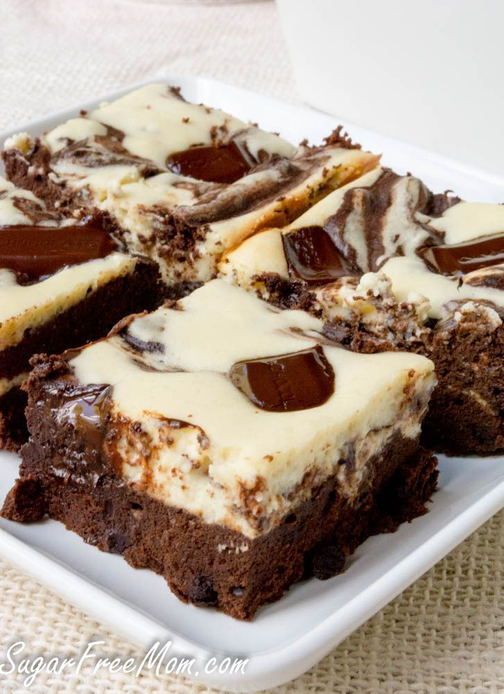 Sugar Free Cheesecake Brownies Gluten Free And Low Carb