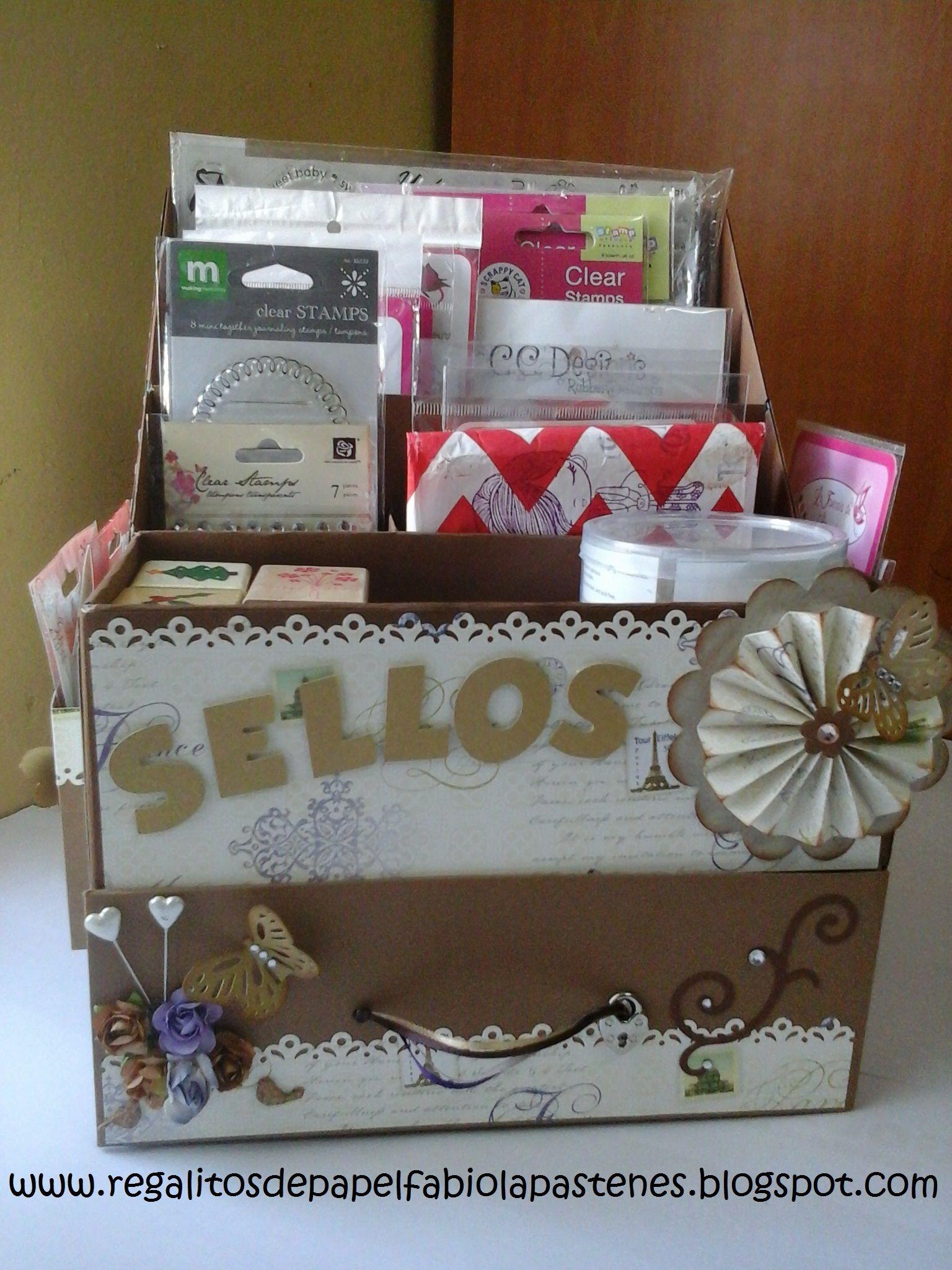 Caja para guardar mis sellos hecha a partir de cajas de - Cajas de plastico para almacenar ...