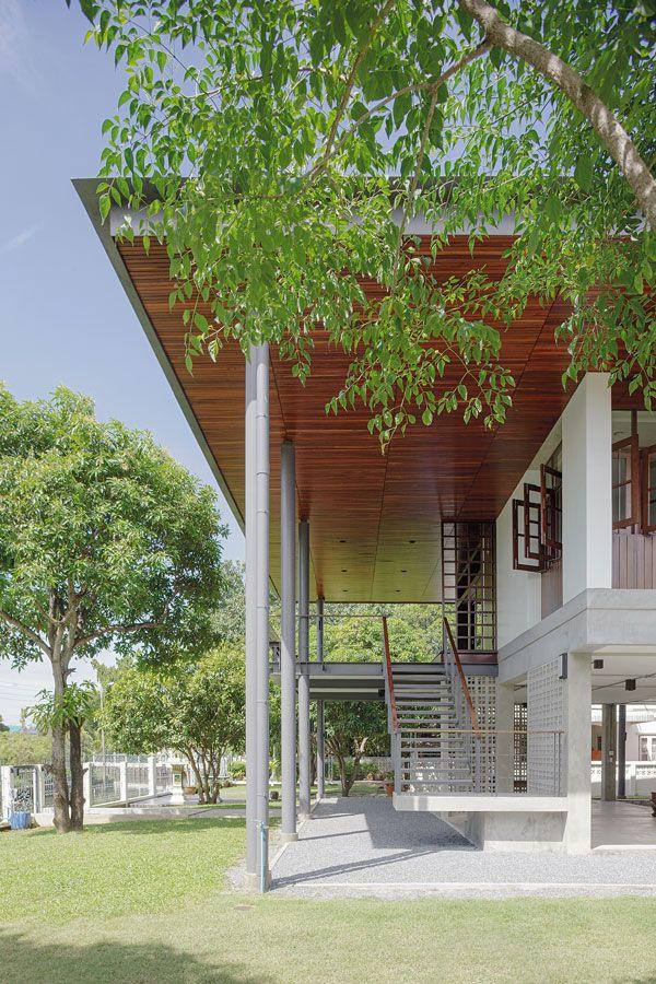 Tt160608 024 House Exterior Contemporary Architecture House Thai House