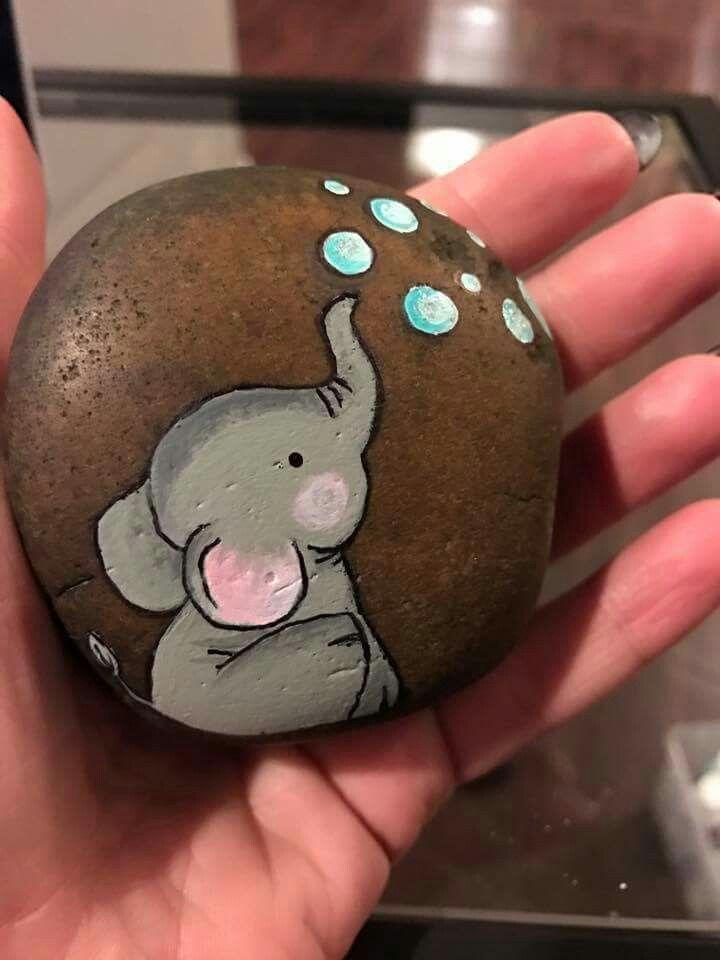 Easy Paint Rock For Try at Home (Stone Art & Rock Painting Ideas,  #art #CuteBabyAnimalseleph…
