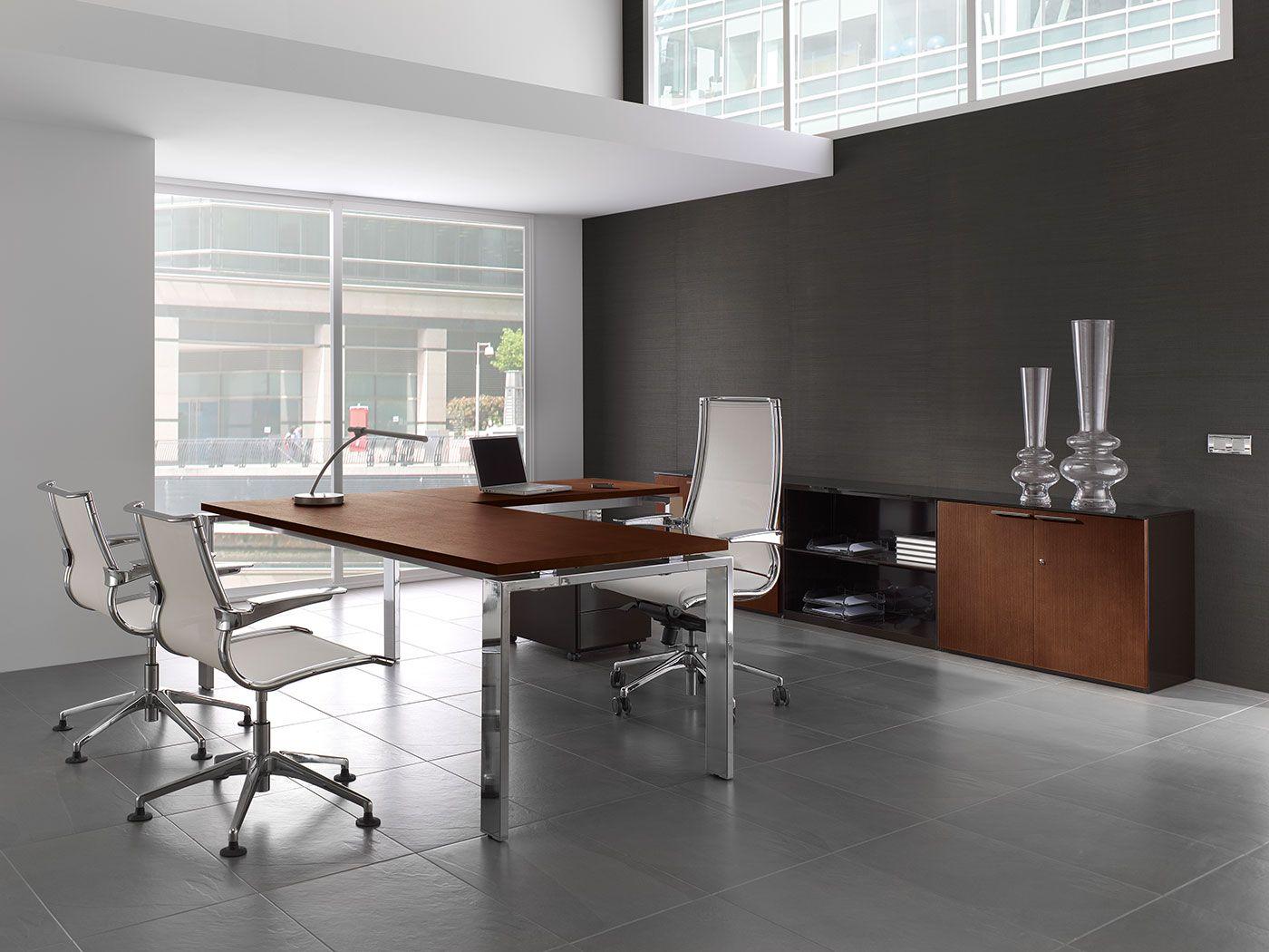 Muebles De Oficina De La Serie Concepto Con Acabados En Madera  # Muebles Rafael Palacios