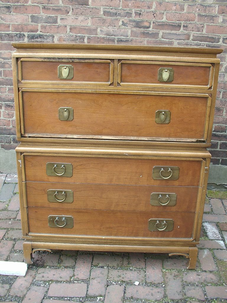 Vintage mid century modern furniture, 1950's Kent Coffey dresser drawers, antique  furniture, Pittsburgh - Vintage Mid Century Modern Furniture, 1950's Kent Coffey Dresser