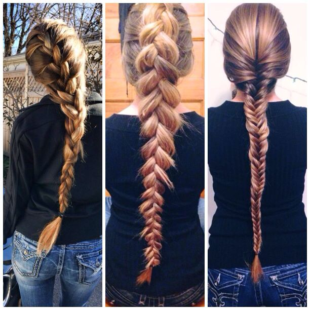 left french braid - middle