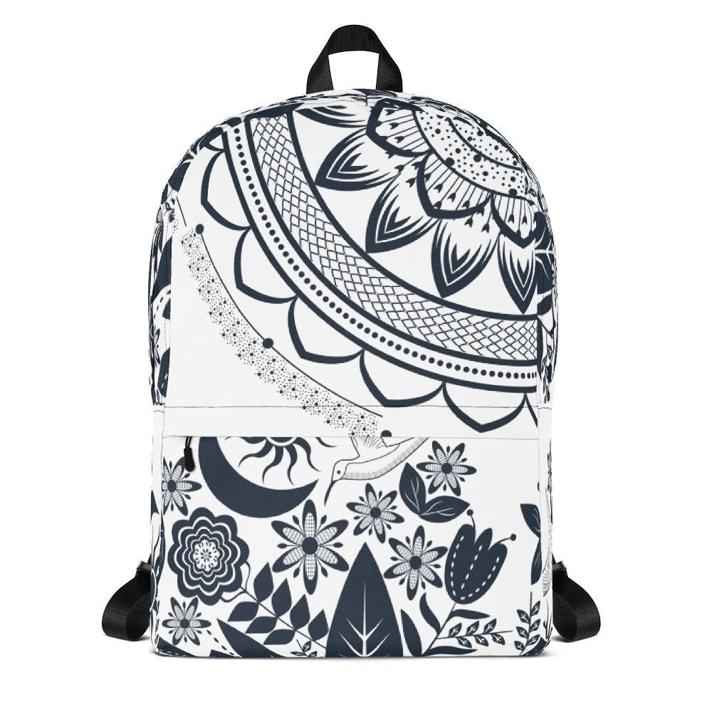 Half Mandala and Secret Garden from my15bohemianart Collection Backpack   cute  fashion  offers  tumblr  gift 12d14f83f1257