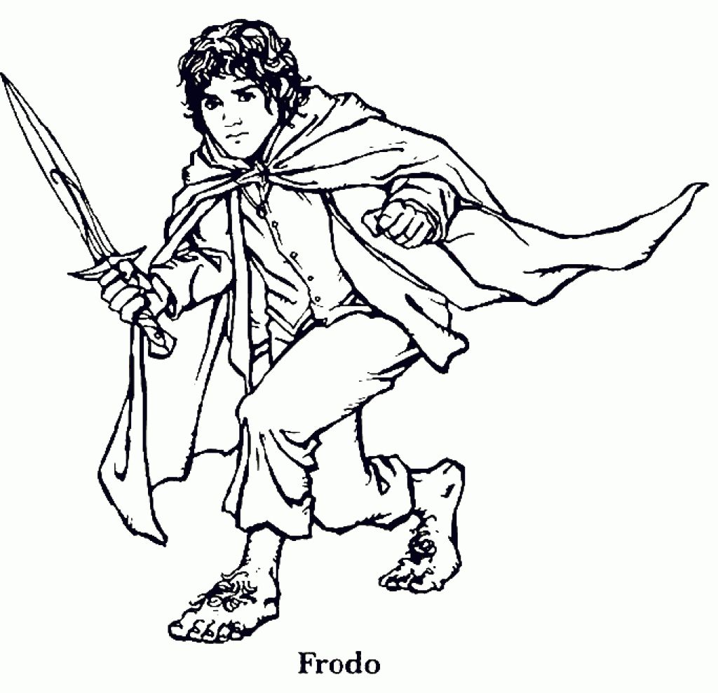 The Hobbit Frodo Baggins Coloring Page Letscolorit Com