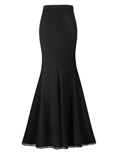 JOLLYCHIC Women's Mermaid Solid Color Evening Party Ladies Fitted Long Skirt Size 4 US Black JOLLYCHIC http://www.amazon.com/dp/B00YBYL02S/ref=cm_sw_r_pi_dp_tvYewb00BW3MH
