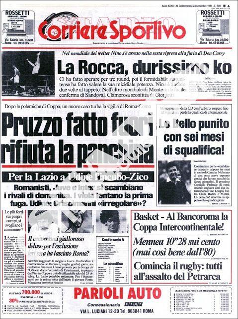 IL CORRIERE DELLO SPORT (23/09/1984) Sport