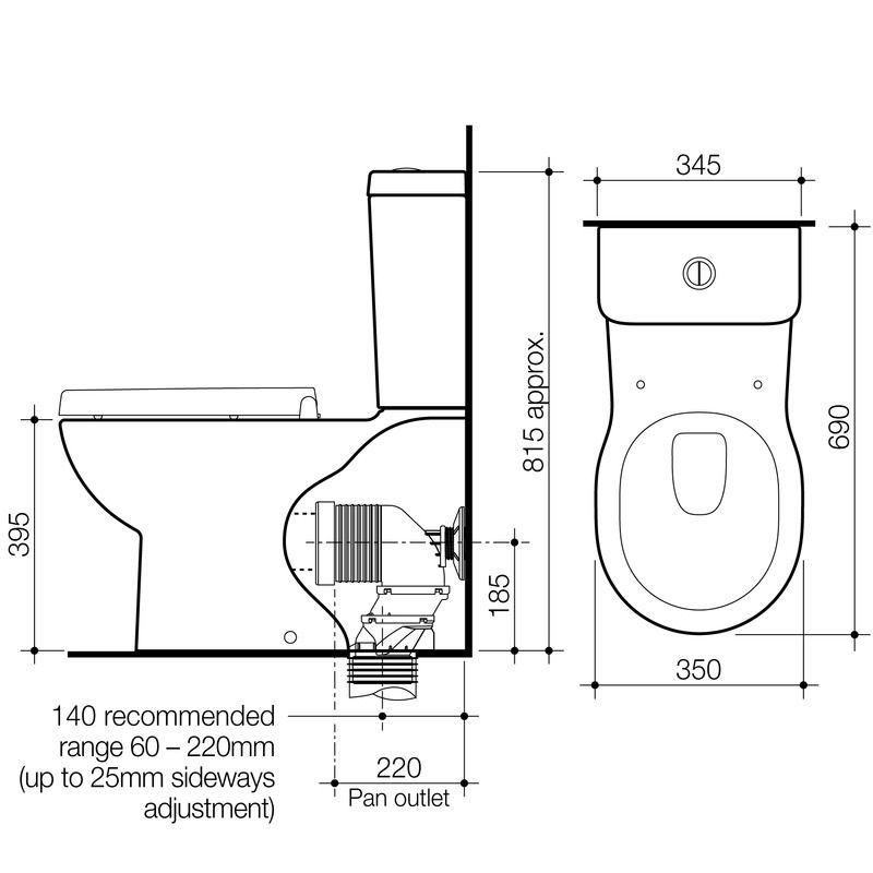 Toilet Suites Opal Ii Opal Ii Wall Faced Toilet Suite Toilet Suites Caroma Toilet Design
