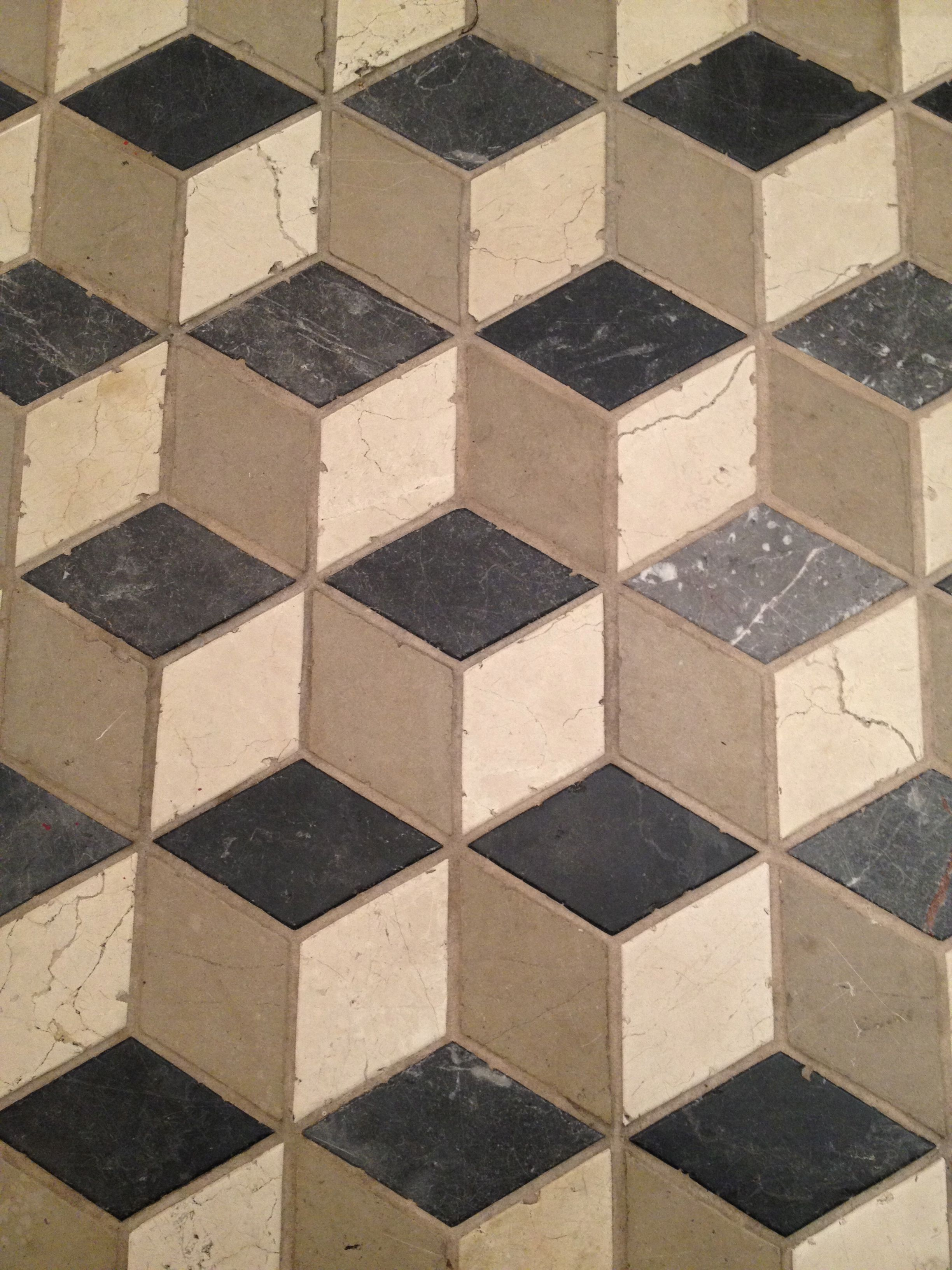 3d Kitchen Flooring Cube Tile Effect Handmade Tiles Can Be Colour Coordinated