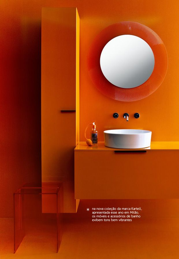 All Orange Bathroom Decor Colors Bathroom