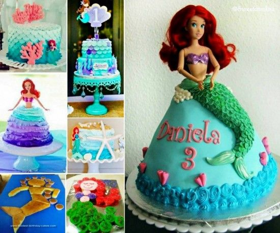 The Cutest Little Mermaid Party Ideas Around Mermaid cakes