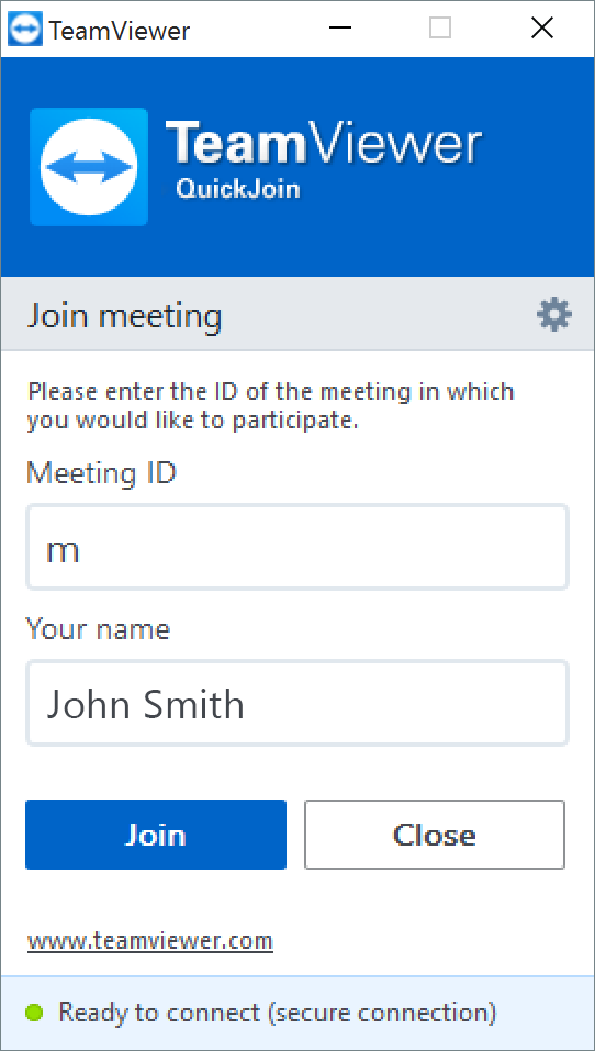 Teamviewer Quickjoin Screenshot Join Meeting Kitchen