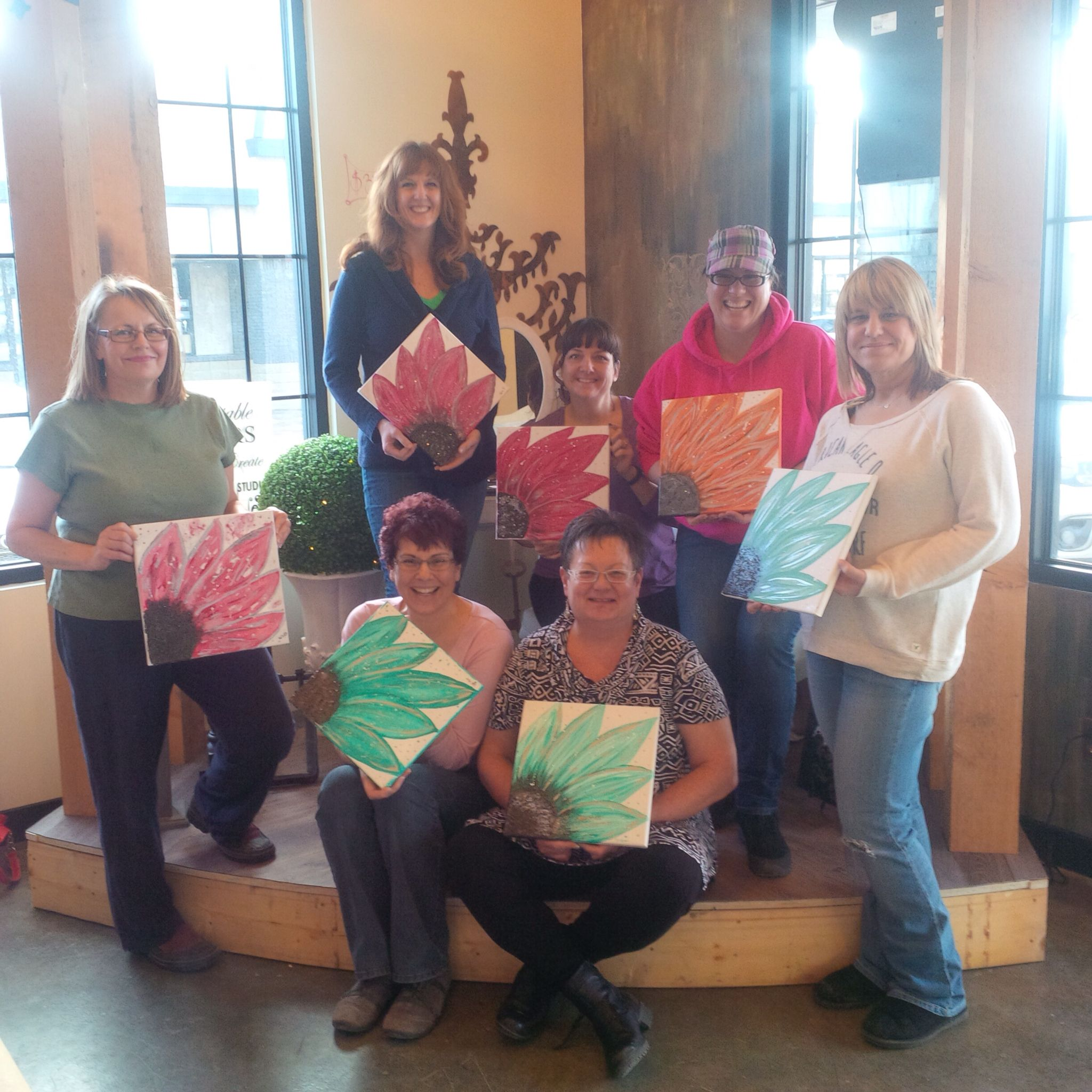 Girlfriends Paint Party at Unfauxgettable Interiors ~ The Paint Boutique & Studio