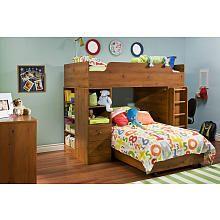South Shore Logik 4 Piece Contemporary Bunk Bed Sunny Pine South