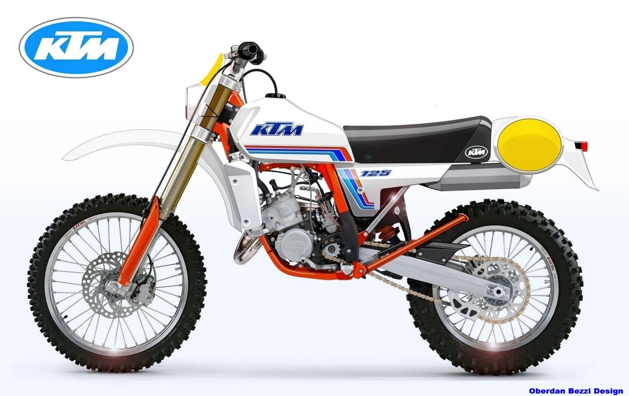 Ktm 125 Classic Series Look 1980 Enduro Motorcycle Motocross Bikes Vintage Motocross